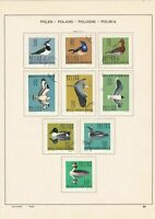 poland 1964 birds & mixed stamps page ref 17259