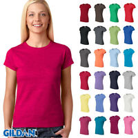 Gildan Womens Junior Fit Soft Style T-Shirt Short Sleeves Basic Tee S-3XL 64000L