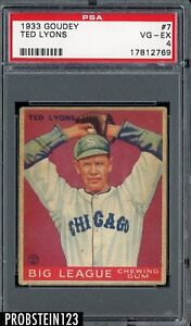 1933 Goudey #7 Ted Lyons Chicago White Sox HOF PSA 4 VG-EX