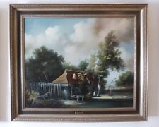 """H. s/T: PEETERS , """"Moulin Flandrien"""" / Oil painting on canvas."""