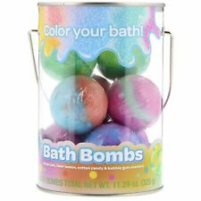 Bath Bombs, Grape Jam, Laser Lemon, Cotton Candy & Bubble Gum Scented, 8 Bath