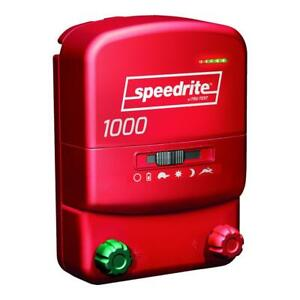 Speedrite 1000 Energizer 10 Mile Fence Charger. AC/DC Powered 40 Acres