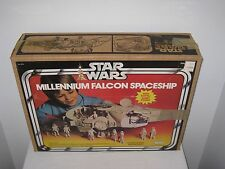 VINTAGE 1980 ORIGINAL STAR WARS MILLENNIUM FALCON SPACESHIP + BOX KENNER