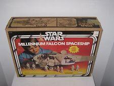 VINTAGE 1980 ORIGINAL STAR WARS MILLENNIUM FALCON SPACESHIP + BOX KENNER