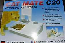 Cat Mate C20 Automatic Pet Feeder Pet Mate 48 hour Timer 2 Bowl