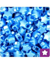 50 Dark Blue Pearl Star Shape 12mm Pony Beads Top Quality Pony Beads *3 for 2*
