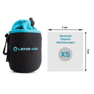 Lens-Aid Neopren Objektivbeutel mit Fleece-Fütterung - Objektivtasche Größe XS