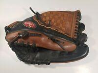 "Rawlings RBG36BTN 12.5"" Baseball Glove Black / Tan Right Hand Throw Pre-owned"