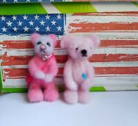 Needle felted wool love bears mini sculpture one of a kind