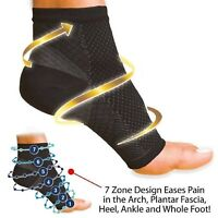 Compression 2 SLEEVE Foot Angel Anti Fatigue Arch Heel Plantar Relief L/XL