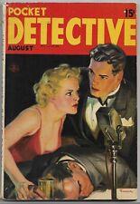 Vintage Pulp Magazine~POCKET DETECTIVE~Aug 1937 Carroll John Daly+ SAUNDERS Cvr!