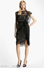$4K ONE of a KIND PHENOMENAL GORGE 2DIE4 ICONIC LANVIN 2013 LACE Black dress