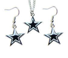 Dallas Cowboys Necklace & Dangle Earring Charm Set NFL