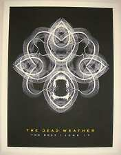2009 The Dead Weather - Hollywood Silkscreen Concert Poster by Rob Jones S/N