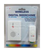 Wireless Door Bell Cordless Battery Doorbell Chime 25 Ringtone Mains Door  9077