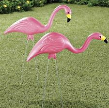 Flamingo Pair, Famous Cute Flamingo Lawn Pair Garden Stake, All Weather Material
