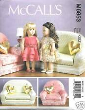 M6853 18 Inch Doll Clothes And Furniture Patterns Mccalls 6853