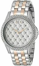 Armani Exchange Women's AX5249 'Hampton' Quilted Crystal Stainless steel Watch
