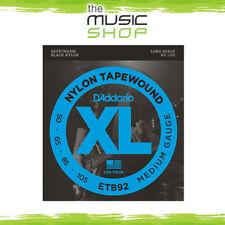 D'Addario Nylon Tapewound 50-105 Long Scale Bass Guitar Strings - Daddario ETB92