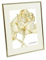Isaac Jacobs Metallic Picture Frame 7.5x9.5 Matted 5x7 Gold