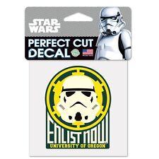 Oregon Ducks NCAA Star Wars Storm Trooper Die Cut Car Decal Wincraft 155382