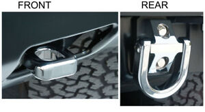 2003-2009 H2 Hummer Chrome Billet Front and Rear Tow Hook Set