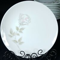 """Noritake Edenrose 6 3/8"""" Bread & Butter Plate Vintage White with Gray/Pink Roses"""