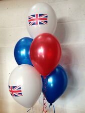 30 Union Jack Pearlised Latex Range, Red, White & Blue (Helium Quality)