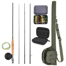 9ft Fly Fishing Rod Reel Combo Kit Set 5/6 7/8 Fly Rods with Carry Bag 20 Flies