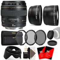 Canon EF 85mm f/1.8 USM Medium Telephoto Autofocus Lens with Accessories