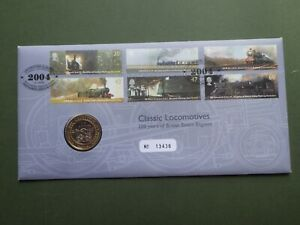 Classic Locomotives £2 Commemorative Coin in Presentation First Day Cover 2004