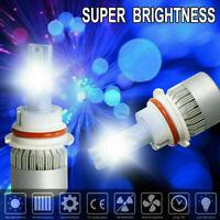 Pair 9007 HB5 LED Headlight Conversion Kit 1500W 225000LM HI-LO Beam Bulbs 6000K