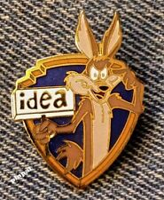"Looney Tunes Brooch Pin~Wile E. Coyote~""Idea""~1989 vintage~WB~NOS~New Old Stock"