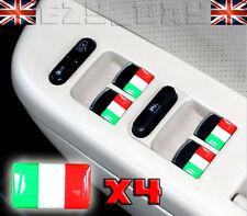 BANDIERA ITALIANA x4 LOGO 3D distintivi VOLANTE FIAT 500 ALFA ROMEO STILE VESPA