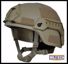 DE M/LG Bullet Proof LVL IIIA Tactical Ballistic KEVLAR OPS SOF Full Cut Helmet