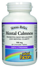 Natural Factors Stress Relax Mental Calmness 100 mg L-Theanine 60 Tablets