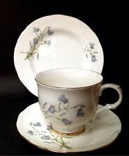 Sadler Wellington Bleu Campanule à feuilles rondes Vintage China Tea Cup saucer thé plaque
