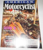 American Motorcyclist Magazine Daytona '98 March 1998 071414R