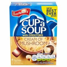 2 x Batchelors Cup a Soup Cream of Mushroom with Croutons 4 Sachets 4 x 25g