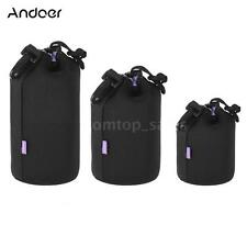 Andoer Waterproof DSLR Lens Pouch Kit (S+M+L) Soft Bag Case Protector Set E8B8
