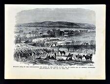 Leslie Civil War Print - Battle of Kelley's Ford Rappahannock Virginia Cavalry