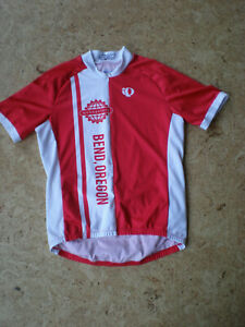 (Medium) Pearl Izumi IQ Select Men's 1/2 Zip RED/WHITE Cycling Jersey Shirt