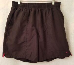 Speedo Mens Black Red Swim Trunk Shorts Size L
