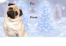 Pug Dog Christmas Labels by Starprint - No 3