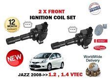 FOR HONDA JAZZ 1.2 1.4 VTEC 2008-> NEW 2 X IGNITION SPARK PLUG COIL PENCIL TYPE