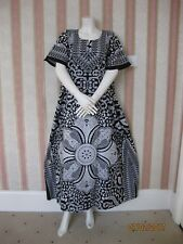 B7 Black White Floral 100% Cotton Maxi Kaftan Dress Nighty UK14-20, 20-24+3GIFTT
