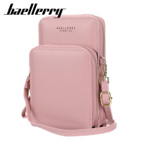 Women's Leather Mobile Phone Crossbody Bag Credit Card ID Holder Clutch Wallet