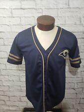 Los Angels Rams Mens Medium Blue Gold Short Sleeve Baseball Jersey