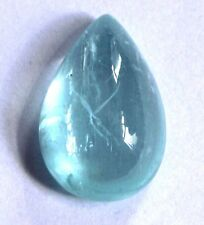 23.00 Ct Natural Aquamarine Brazil Cabochon Loose Gemstone 23X15.5mm Pear S733