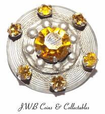 Citrine Silver Brooch/Pin Vintage Fine Jewellery